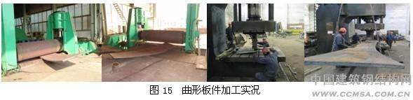 """凤凰国际传媒中心钢结构工程""""三曲钢连桥""""加工制作"""